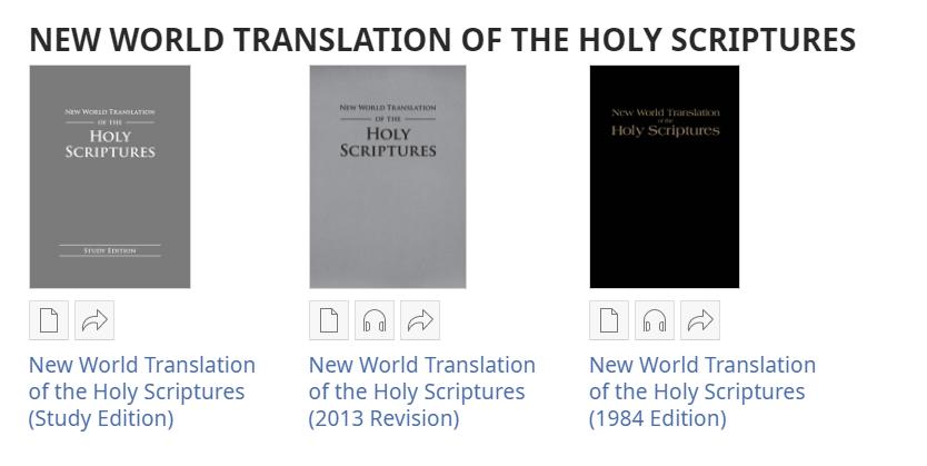 """Перевод """"Новый мир"""" Свидетелей Иеговы"""